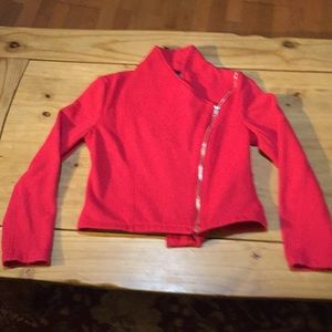 Forever 21 red cropped jacket;  size S